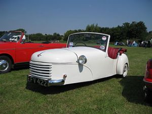 The 1951 Bond Minicar convertible.